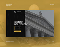 Justice Attorney Landing Page Concept