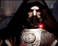 Life Sized Darth Malgus Statue