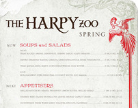 Harpy Zoo Branding and Menu Desgin
