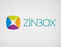 ZINBOX startup ID and UI design