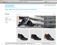 Mischief Shoes website redesign