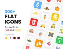 300+ Flat Icons