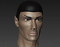 Spock Head Sculpt