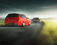 Chase! BMW E91 and Audi R8