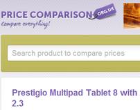Pricecomparison UK is a price comparison website