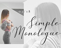 Simple Monologue - Beauty Font