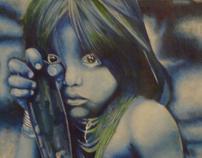 blue amazon girl