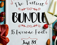 The Tastiest BUNDLE: 15 AWESOME FONTS