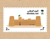 Saudi National Day Stamps