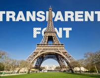 Transparent Font