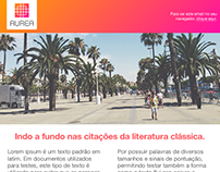 Aurea newsletter design
