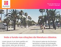 Aurea newsletter design