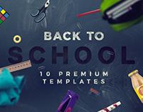 Back to School - 10 Premium Templates