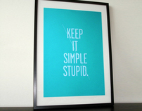 Keep it simple screenprint