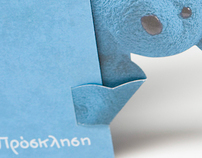 """Little blue bear"" Invitation"