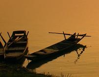 Sunset at Dongting Lake
