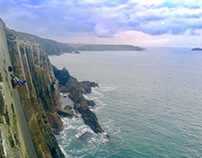 A Campsite With a Difference in Wales - Cliff Camping