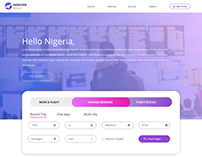 Airline Website Landing Page