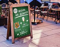 Frame Board Menu - Lounge Bar