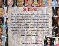 Campanha Cor-Ação - ONG Casa do Zezinho