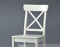 3d model of Ikea Ingolf chair