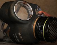 3D CG object: World War II gasmask