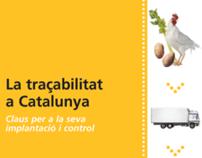 """Diseño de libro & CD """"La trazabilidad en Cataluña"""""""