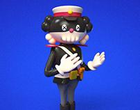 Black cat sheriff x kaws