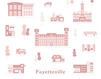 Fayetteville Arkansas Illustration