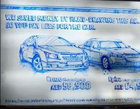 Hand drawn billboard- Chevrolet/ Integrated