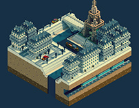Paris - Voxel art
