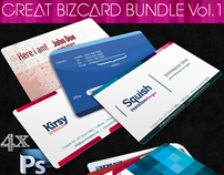 Great Business Card Bundle 4 in 1 -PSD-