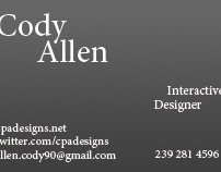 New Personal Business Card Design