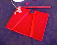 Red Handmade Notebook