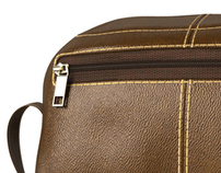 Leather toiletry bag 3d visualisation