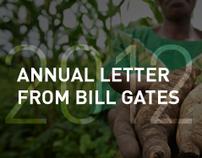 Bill Gates Annual Letter 2012: Interactive