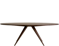 Darcey Table - Award winning dining table in walnut