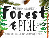 Forest & Pine // Free hand drawn font download
