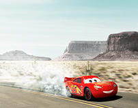 Lightning McQueen on the Road