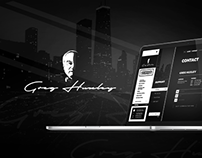 Website & brand identity for Greg Huxley