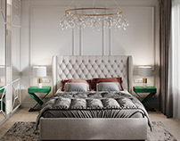 Interior 3D Render of Bed Room in Dallas, USA