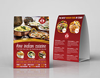 Indian Restaurant Table Tent Template Vol.2