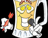 Just One More Bar & Grill Illustration Logo