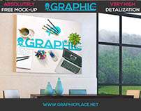 Photo Wall Room - Free PSD Mockup