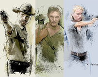The Walking Dead Fan Art - Set 1 by K. Fairbanks