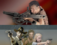 The Walking Dead Fan Art - Set 2 by K. Fairbanks