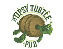 Logo/Signage for the Tipsy Turtle Pub