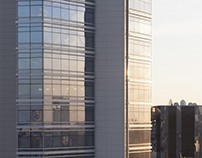 Office panoramic photo with ultra resolution