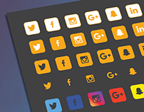 35+ Solid Social Media Icons for Web Designers