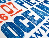 Letterpress. Film Poster.